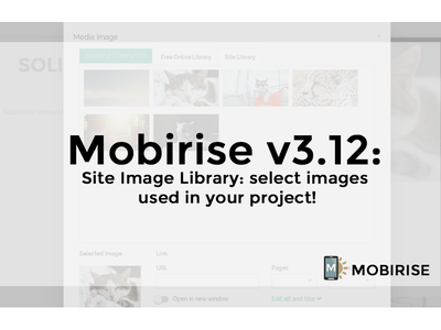 The latest version of the Mobirise app is 3.12.1 html5 html htmlbuilder freesoftware bootstrap responsivewebsites responsivewebdesign responsivedesign responsive mobilewebsites websitebuilder