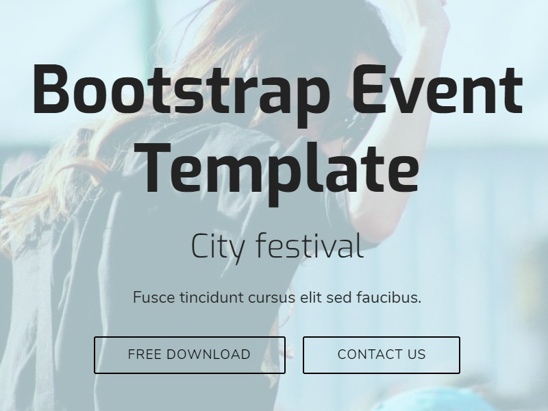 Mobirise Bootstrap Theme Generator v4.4.1 - Event Template!