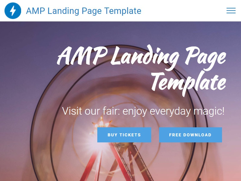 Mobirise AMP Site Builder v4.6.3 - AMP Landing Page Template! webdesign builder website bootstrap 4 css3 html5 ui ux mobile easy clean bootstrap