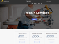 Mobirise AMP JS Repair Services Template | HandymanAMP