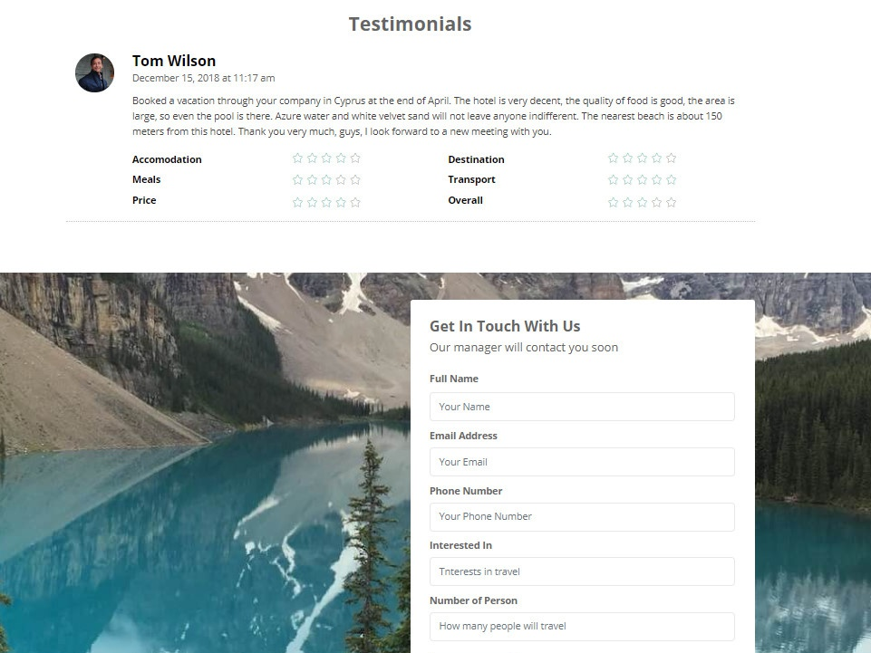 Mobirise 481 Travel Agency Landing Page Template By Mobirise