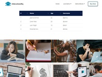 Mobirise Bootstrap Gallery Template - EducationM4!