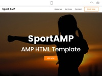 Mobirise Sports Website Design - SportAMP!