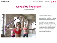 Mobirise Free Website Builder Software 4.8.7 - Fitness Club!