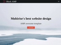 Mobirise's best website design -  AMP awesome template