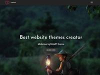 Best website themes creator - Mobirise lightAMP theme