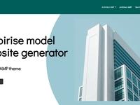 Mobirise model website generator - Architect AMP theme
