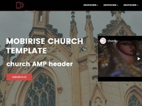 Mobirise church template - church AMP header