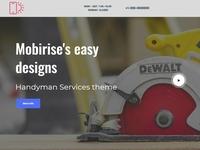 Mobirise's easy designs - Handyman Services theme