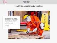 Mobirise website features block