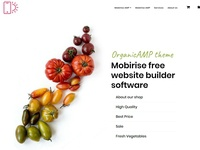 Mobirise free website builder software - OrganicAMP theme