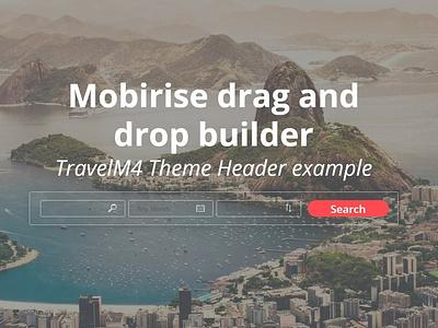 Mobirise drag and drop  builder - TravelM4 Theme Header example best webdevelopment webdesign software responsivedesign templatemonster bootstrap4 htmlcode htmlcss html5