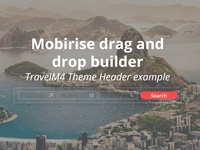 Mobirise drag and drop  builder - TravelM4 Theme Header example