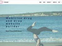 Mobirise drag and drop website builder - Best FitnessAMP theme