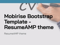 Mobirise Bootstrap Template - ResumeAMP theme