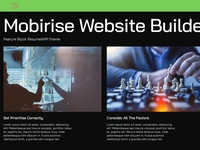 Mobirise Html5 Website Builder  - Feature Block ResumeAMP theme
