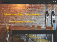 Mobirise Restaurant Website Templates  - RestaurantM4 theme