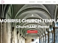 Mobirise Church Template - ChurchAMP theme