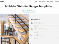 Mobirise Website Design Templates - InteriorAMP Theme