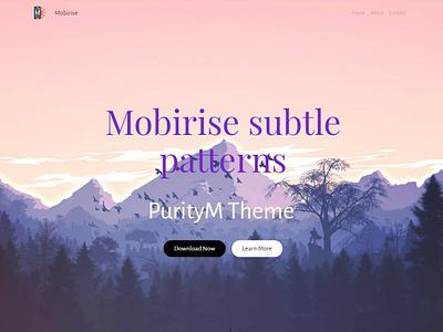 Mobirise Subtle Patterns - PurityM Theme template builder website creator mobirise html clean website maker mobile website webdevelopment software free website builder design responsive html5 bootstrap webdesign