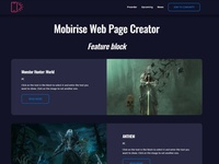 Mobirise Web Page Creator - Feature block