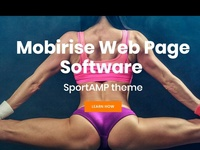 Mobirise Web Page Software - SportAMP theme
