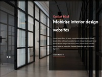 Mobirise interior design websites - Content block