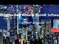 Mobirise Best Website Builder Software - TravelAMP template