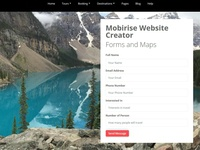 Mobirise Website Creator - Forms and Maps