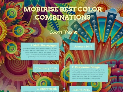 Mobirise Best Color Combinations - ColorM Theme template builder website creator download mobirise website maker clean css webdevelopment software free web website builder website responsive design html5 mobile webdesign bootstrap