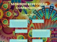 Mobirise Best Color Combinations - ColorM Theme