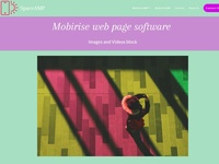 Mobirise web page software - Images and Videos block