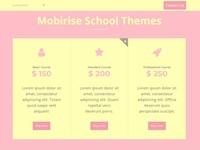Mobirise School Themes - SchoolAMP table block