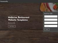Mobirise Restaurant Website Templates - RestaurantM4