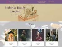 Mobirise Beauty template - Beauty AMP theme