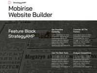 Mobirise Website Builder - Feature Block StrategyAMP