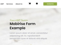 Mobirise Form Example - OrganicAMP Template