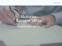 Mobirise Resume Ideas - Rsum MP theme