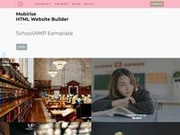 Mobirise HTML Website Builder - SchoolAMP template
