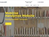 Mobirise Handyman Website - HandymanAMP Template