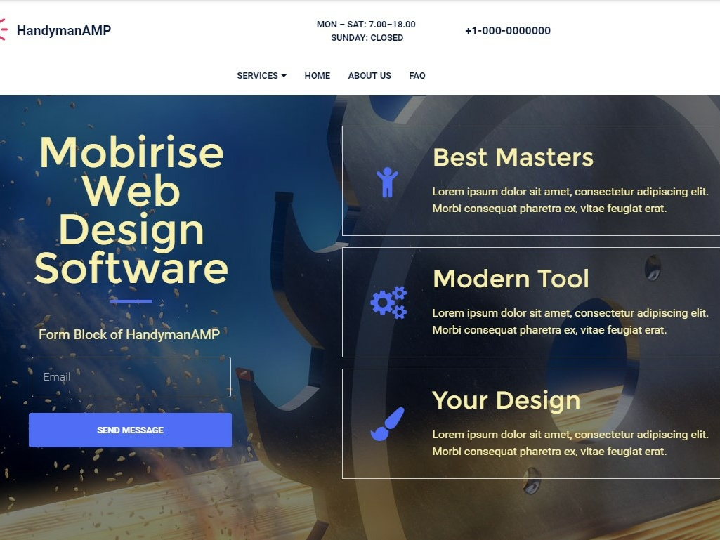 Mobirise Web Design Software Form Block Of Handymanamp By Mobirise Builder On Dribbble