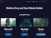 Mobirise Drag and Drop Website Builder - GamingAMP Theme