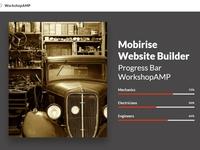 Mobirise Website Builder - Progress Bar WorkshopAMP