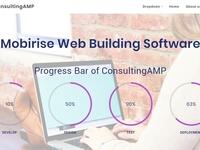 Mobirise Web Building Software - Progress Bar of ConsultingAMP