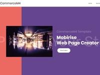 Mobirise Web Page Creator - CommerceM4 Template