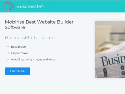 Mobirise Best Website Builder Software Businessm4 Template By Mobirise Builder On Dribbble