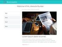 Mobirise HTML Website Builder - Accordion block of BusinessM4