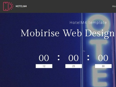 Mobirise Web Design Software Hotelm4 Template By Mobirise Builder On Dribbble