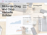 Mobirise Drag and Drop Website Builder -  Features Block