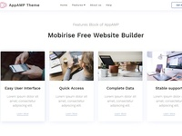 Mobirise Free Website Builder -  Features Block of AppAMP
